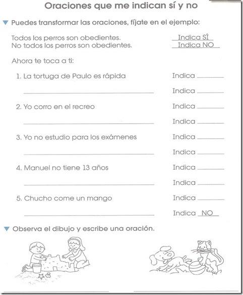 Primero De Primaria Para Imprimir De Oraciones